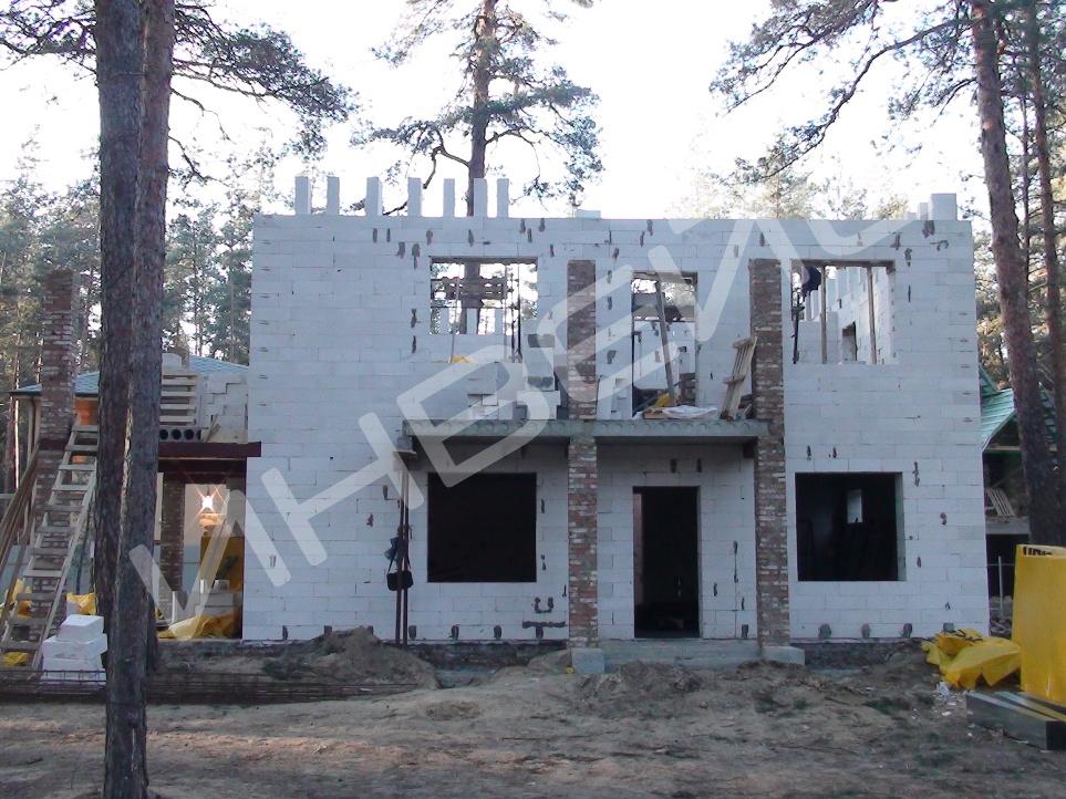 Строительство коттеджа из газобетона - 001