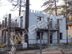 Строительство коттеджа из газобетона - 016
