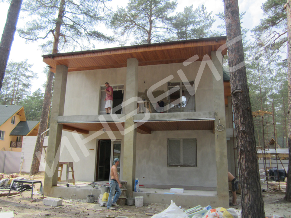 Строительство коттеджа из газобетона - 022