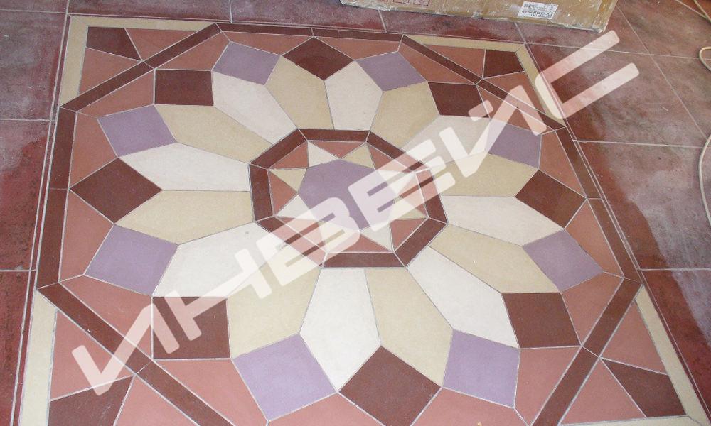 Декоративная укладка плитки - миниатюра